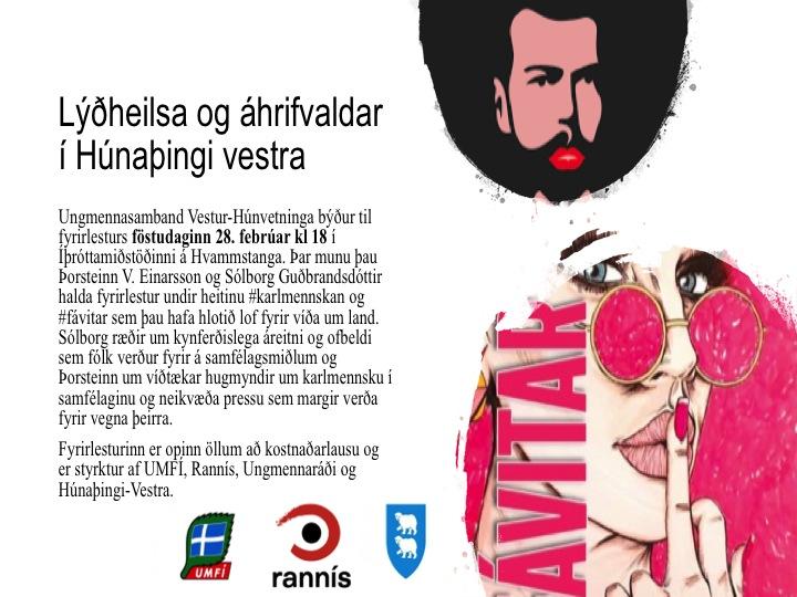 #karlmennskan og #fávitar. Lýðheilsa og áhrifavaldar í Húnaþingi-Vestra.